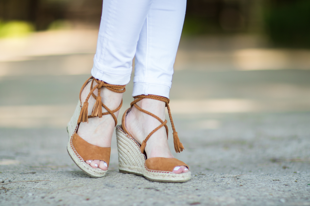 Joie 'Phoebe' wedge sandals whiskey suede, lace up espadrille sandals