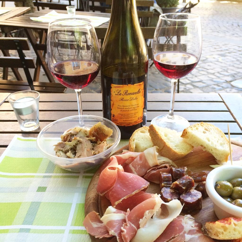 Romanella wine, Frascati Italy, porchetta, travel blogger Rome Italy
