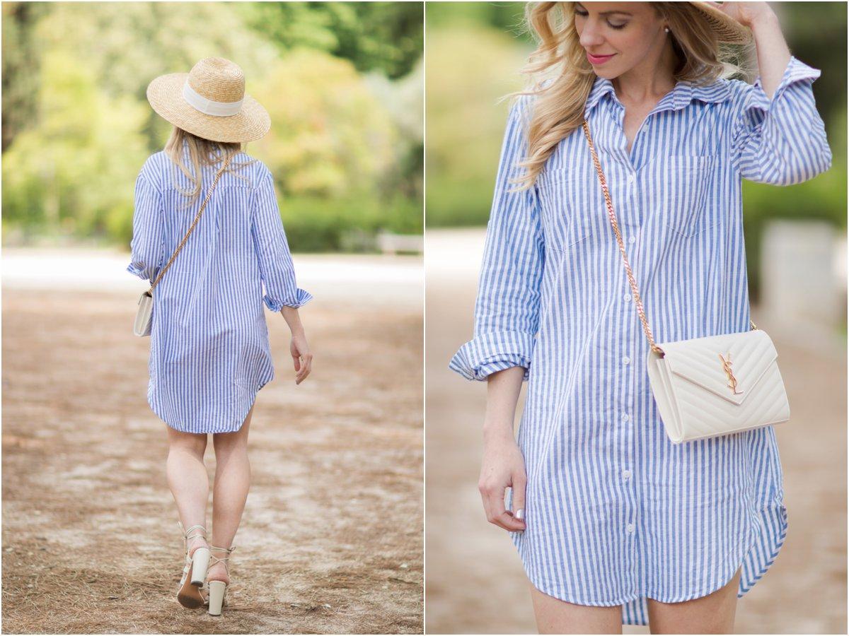 8569eafc25a blue and white striped shirt dress