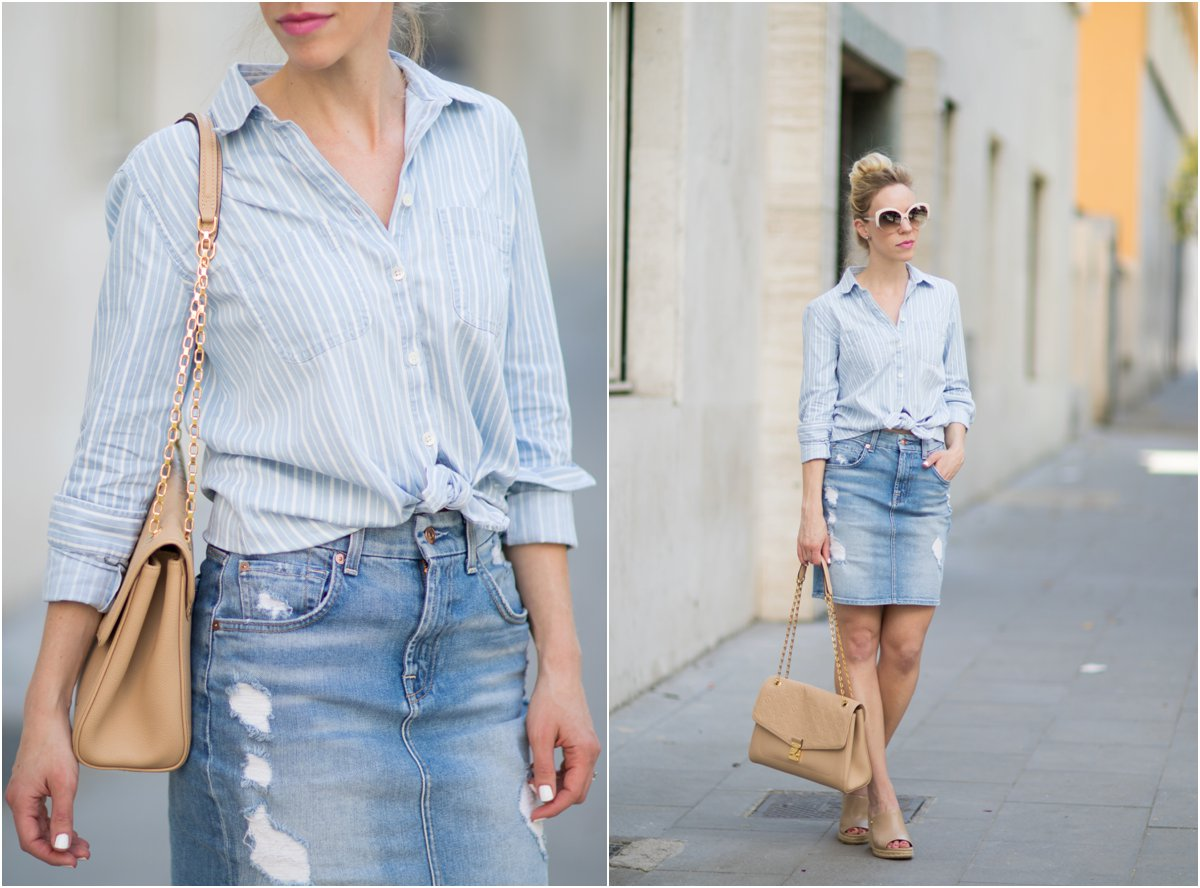 Tips for Styling a Denim Skirt }