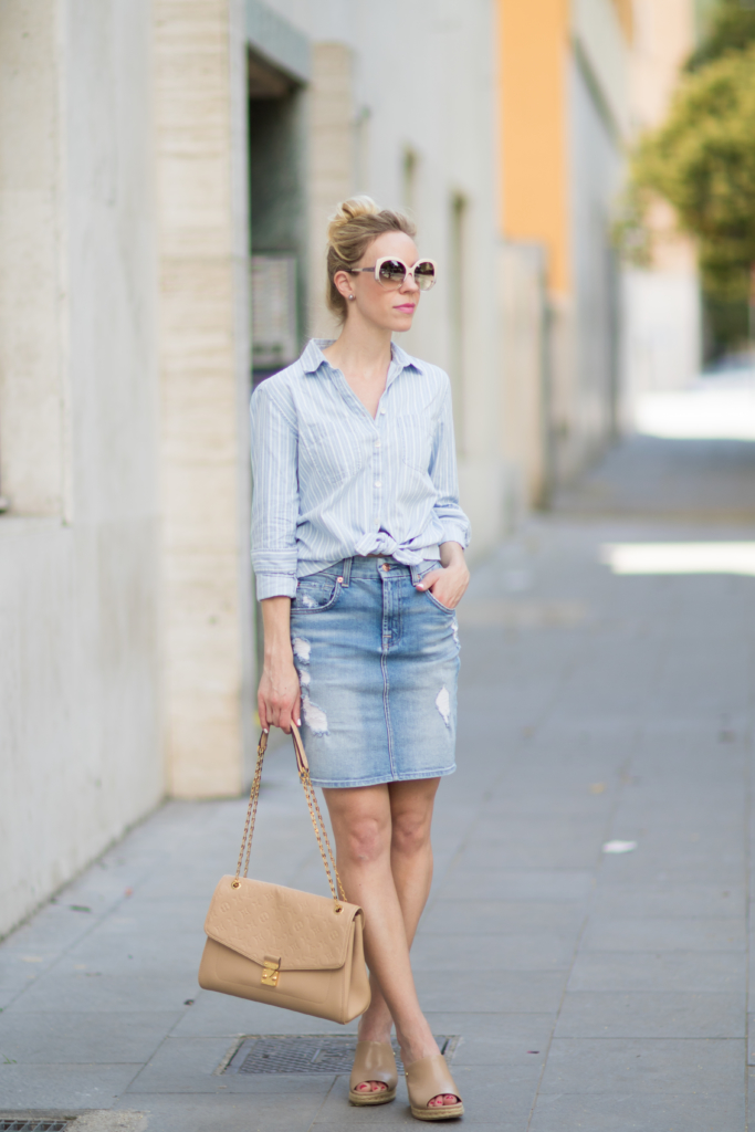 tips for styling a denim skirt meagan s moda