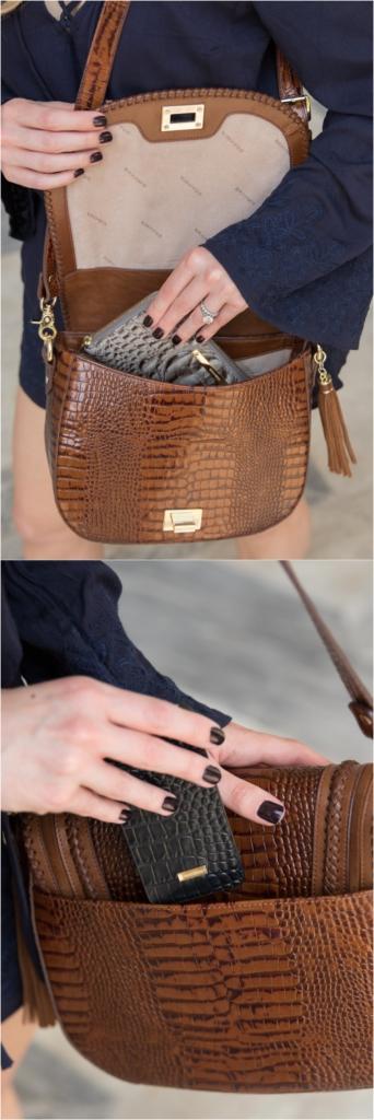 Brahmin handbags organizational features, Brahmin 'Sonny' saddlebag Toffee Rockdale