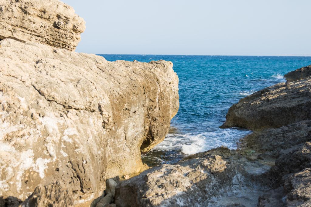 Sicily Italy, beach in Augusta, Faro Augusta