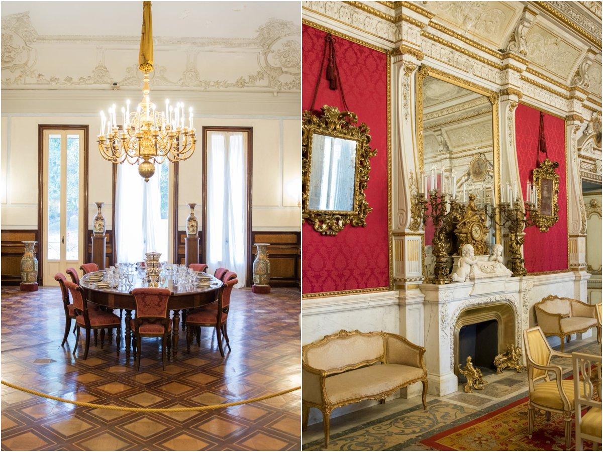 Villa Pignatelli mansion French decor, Naples Italy