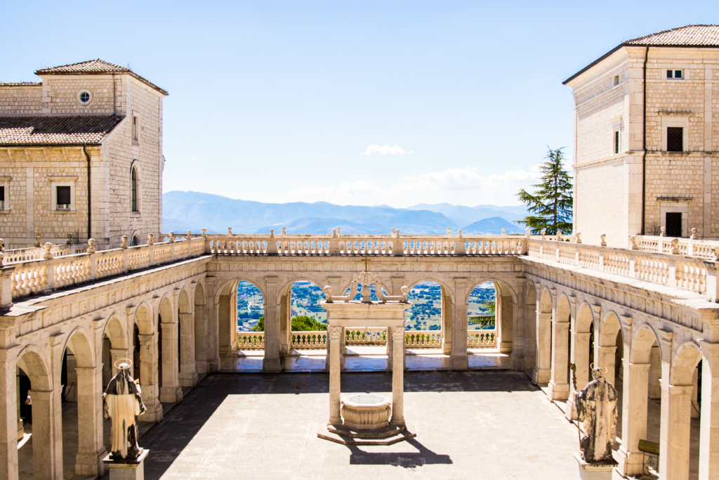 Montecassino Italy, abbey of Montecassino Italy, American travel blogger living in Rome