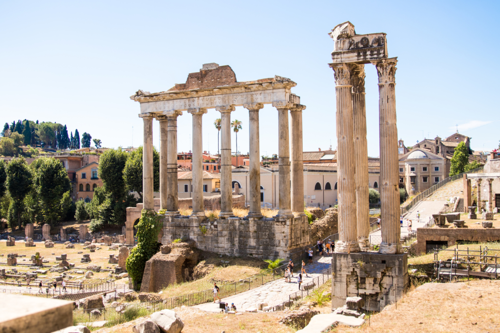 Roman Forum, American travel blogger living in Rome Italy
