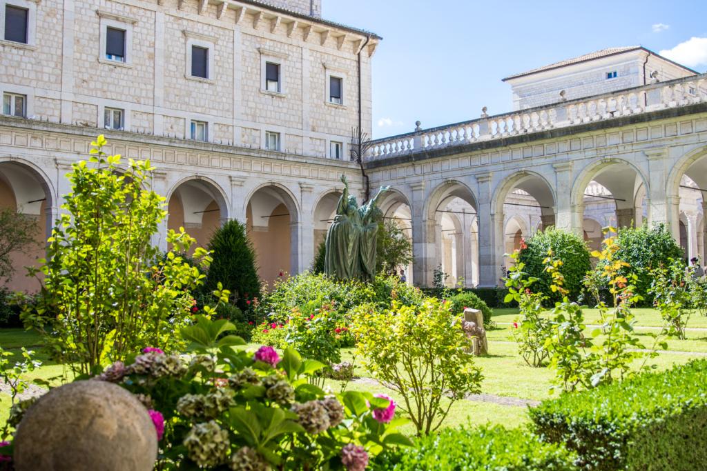 gardens in Montecassino Italy, abbazia di Montecassino