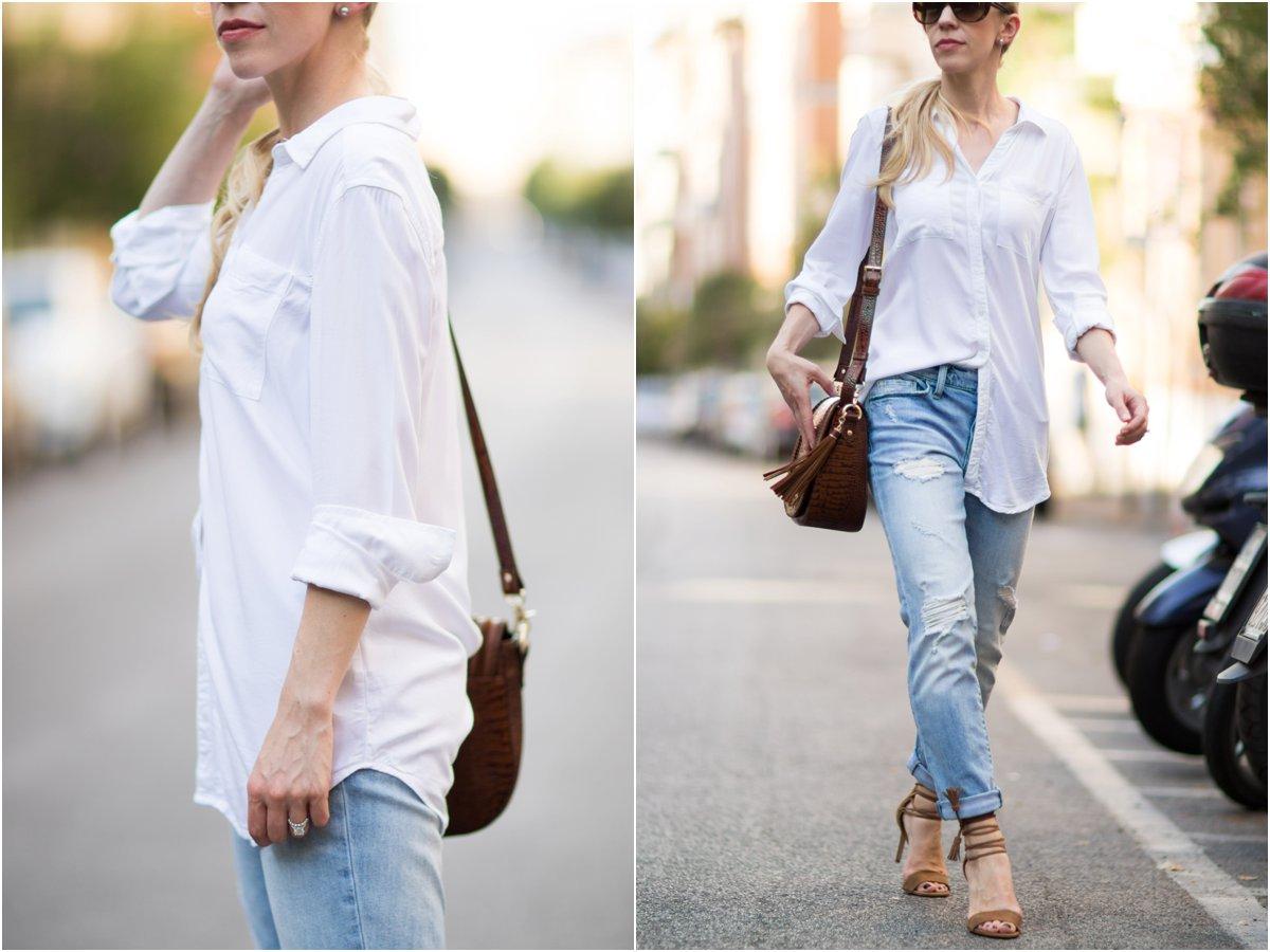 { Back to Basics: Tunic button-down, Boyfriend jeans ...