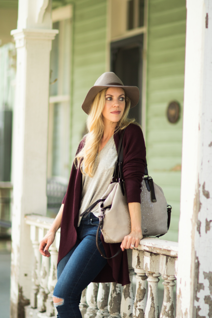 hm-gray-fedora-brahmin-delaney-tote-smoke-wilmington-suede-burgundy-and-gray-outfit-for-fall