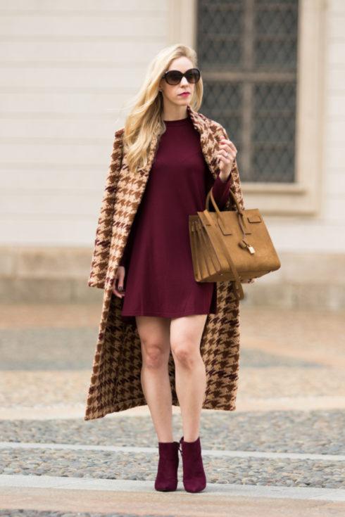 la-fe-maraboutee-houndstooth-wool-coat-burgundy-mini-dress-stuart-weitzman-bordeaux-suede-booties-saint-laurent-suede-sac-de-jour