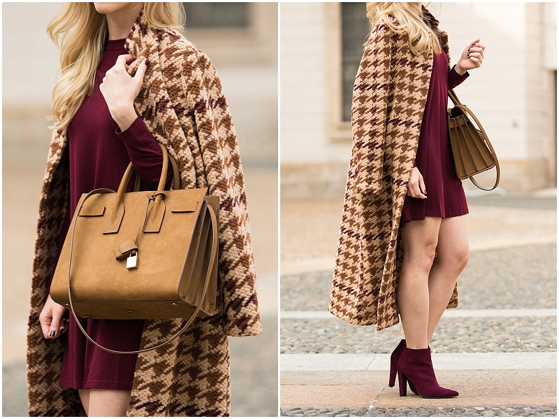 la-fee-maraboutee-houndstooth-wool-coat-saint-laurent-tan-suede-sac-de-jour-tote-stuart-weitzman-hitimes-bordeaux-suede-booties