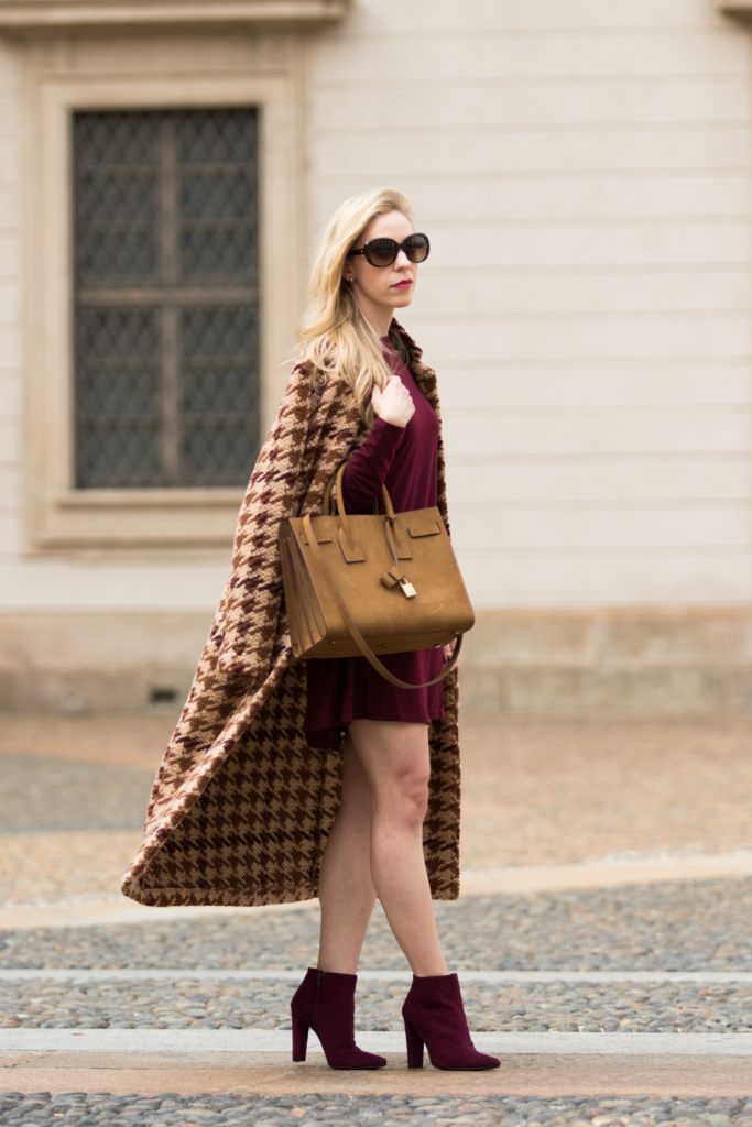 la-fee-maraboutee-houndstooth-wool-coat-ysl-russet-tan-suede-sac-de-jour-tote-milan-fashion-week-ss17-blogger-street-style