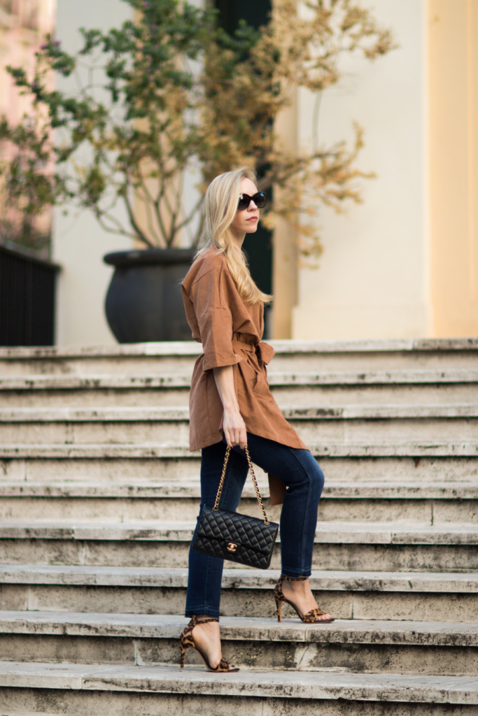 faux-suede-kimono-with-straight-leg-jeans-chanel-medium-classic-flap-bag-leopard-sandals-faux-suede-jacket-fall-outfit