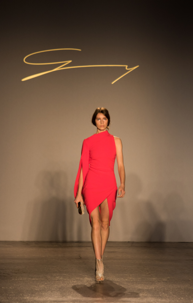 red-bandage-wrap-dress-genny-show-milan-fashion-week-ss17