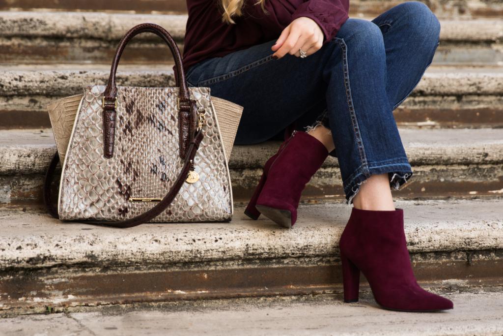 brahmin-priscilla-satchel-stone-carlisle-stuart-weitzman-hitimes-bordeaux-suede-booties-crop-flare-jeans-with-boots-outfit