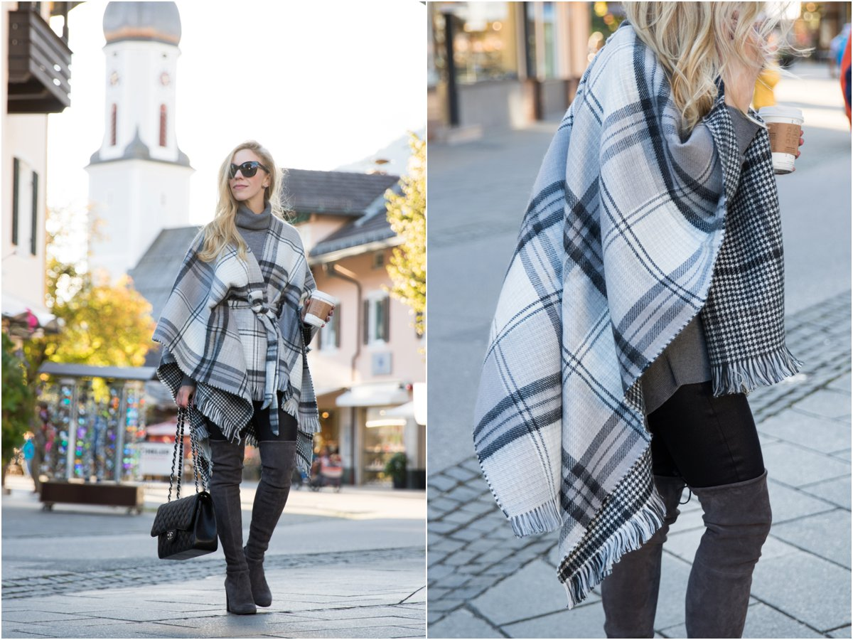 echo-brushed-plaid-cape-stuart-weitzman-gray-highland-over-the-knee-boots-how-to-wear-oversized-cape-with-over-the-knee-boots-for-fall