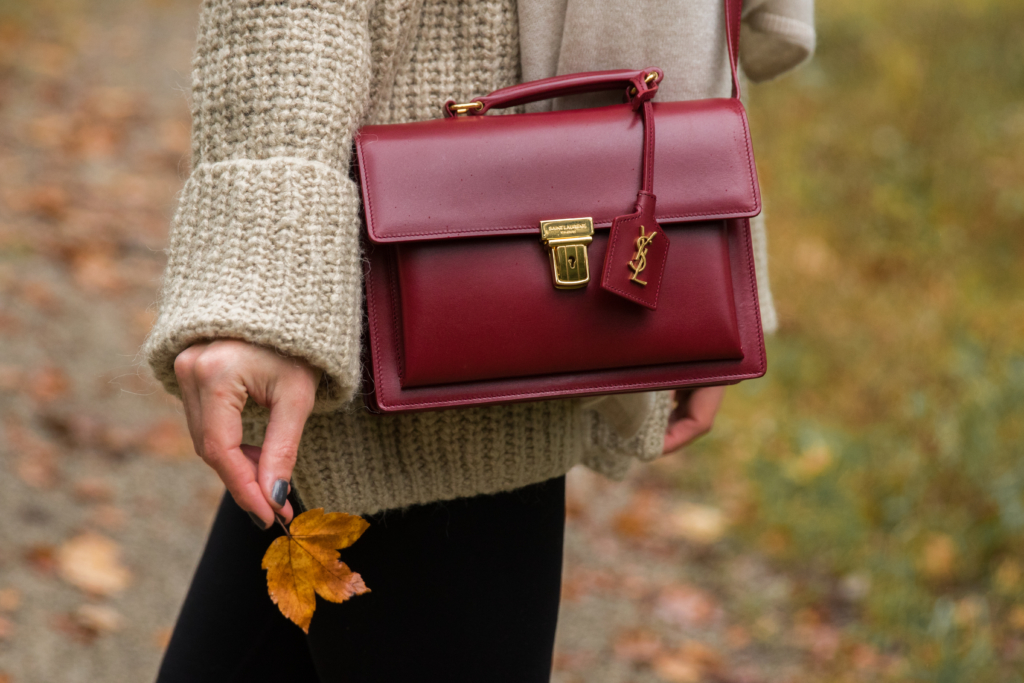 6b5a516da67 saint-laurent-high-school-satchel-oxblood-red-handbag-fall-outfit ...