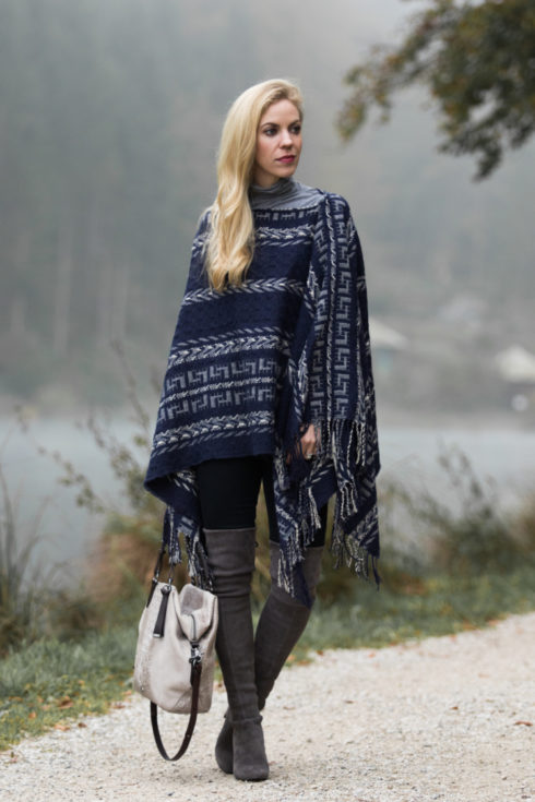 shein-tribal-print-poncho-stuart-weitzman-londra-gray-over-the-knee-boots-brahmin-delaney-tote-smoke-wilmington-how-to-wear-tribal-print-and-look-chic