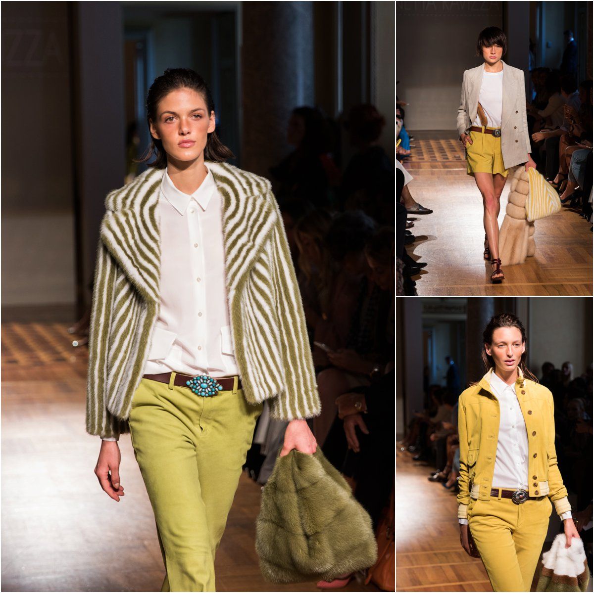 simonetta-ravizza-runway-show-milan-fashion-week-fur-jackets-with-furrissima-bag-green-pants-70s-inspired-colors