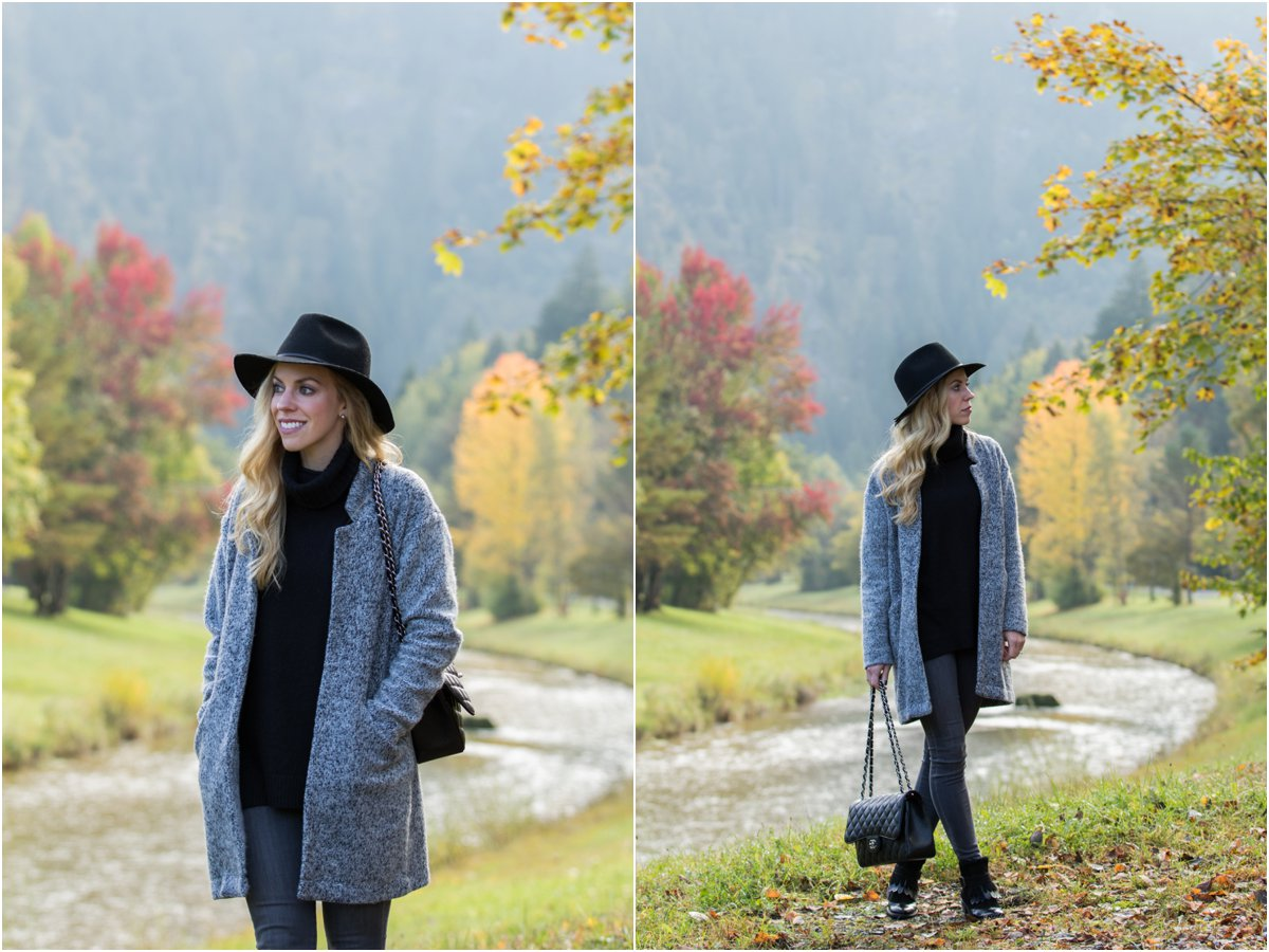 c357625d98c9ef Fall Drive in Germany: Wool fedora, Sweater coat & Fringe booties ...