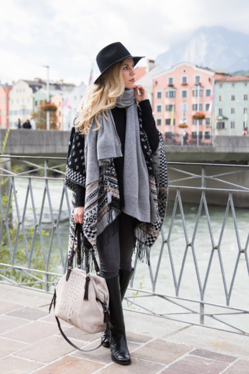 fair-isle-poncho-gray-cashmere-scarf-frye-melissa-tall-black-riding-boots-fair-isle-sweater-fall-outfit