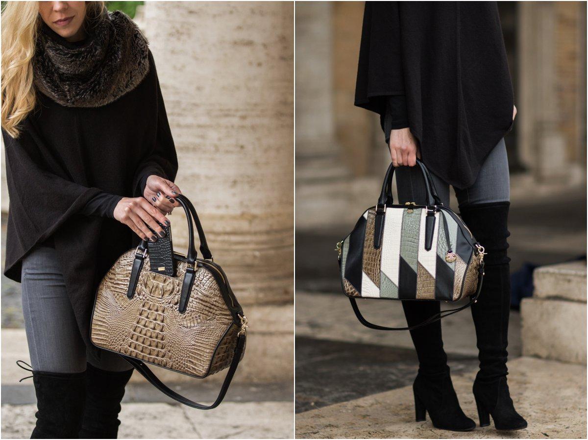 brahmin-hudson-satchel-silver-sage-caspian-how-to-wear-patchwork-trend-70s-patchwork-trend-metallic-handbag-outfit