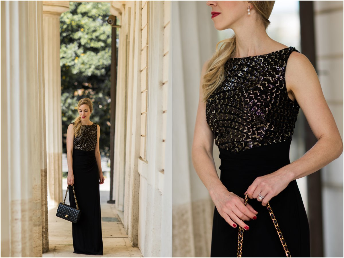 ralph-lauren-black-and-gold-boatneck-evening-gown-black-and-gold-holiday-dress-what-to-wear-to-a-holiday-party