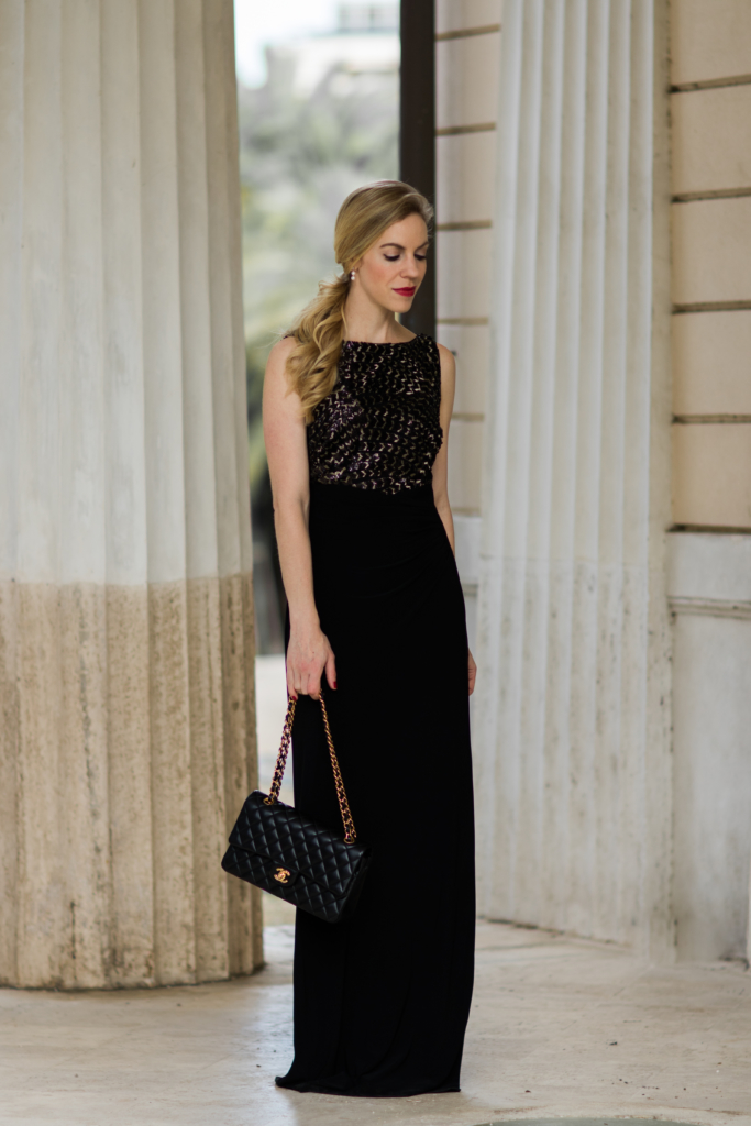 ralph-lauren-black-and-gold-evening-dress-best-holiday-dresses-black-and-gold-gown