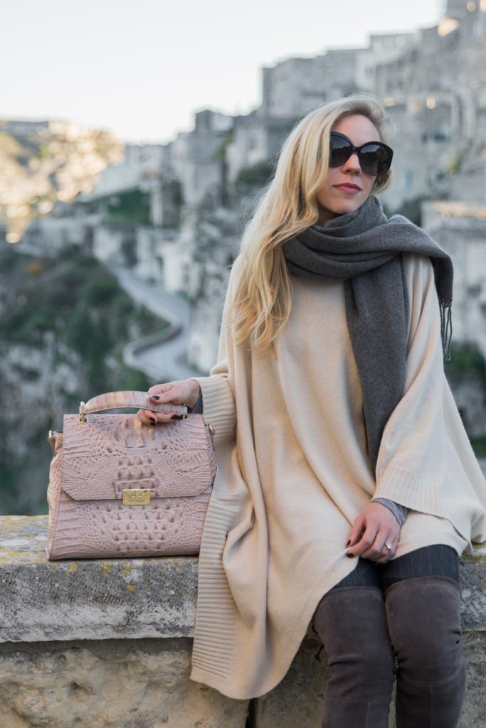 beige-poncho-with-gray-scarf-brahmin-brinley-satchel-silk-melbourne-holiday-outfit-with-poncho