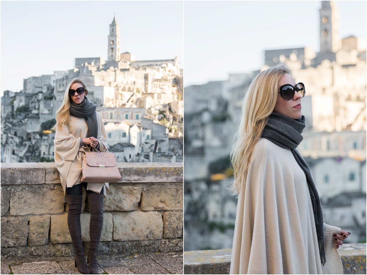 beige-poncho-with-oversized-scarf-brahmin-brinley-satchel-poncho-with-over-the-knee-boots-outfit-matera-italy