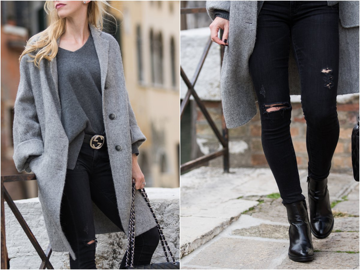 oversized-gray-wool-coat-ag-jeans-distressed-black-middi-ankle-jean-black-and-gray-outfit-with-gucci-black-embossed-belt