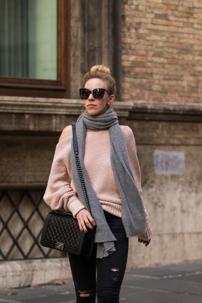 { How to Wear Off-the-Shoulder Styles During Winter ...