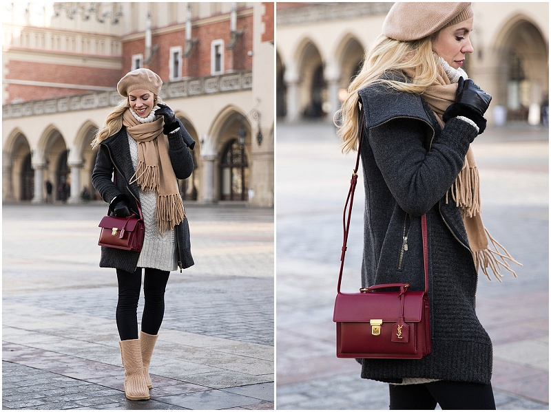 bergans-wool-coat-how-to-layer-for-winter-and-look-stylish-camel-scarf-outfit-with-ugg-boots