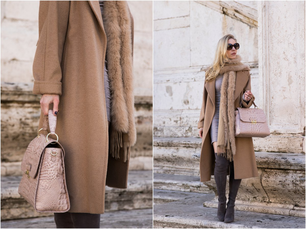 max-mara-camel-coat-pink-and-camel-outfit-how-to-wear-pink-for-winter-brahmin-brinley-satchel-silk-melbourne