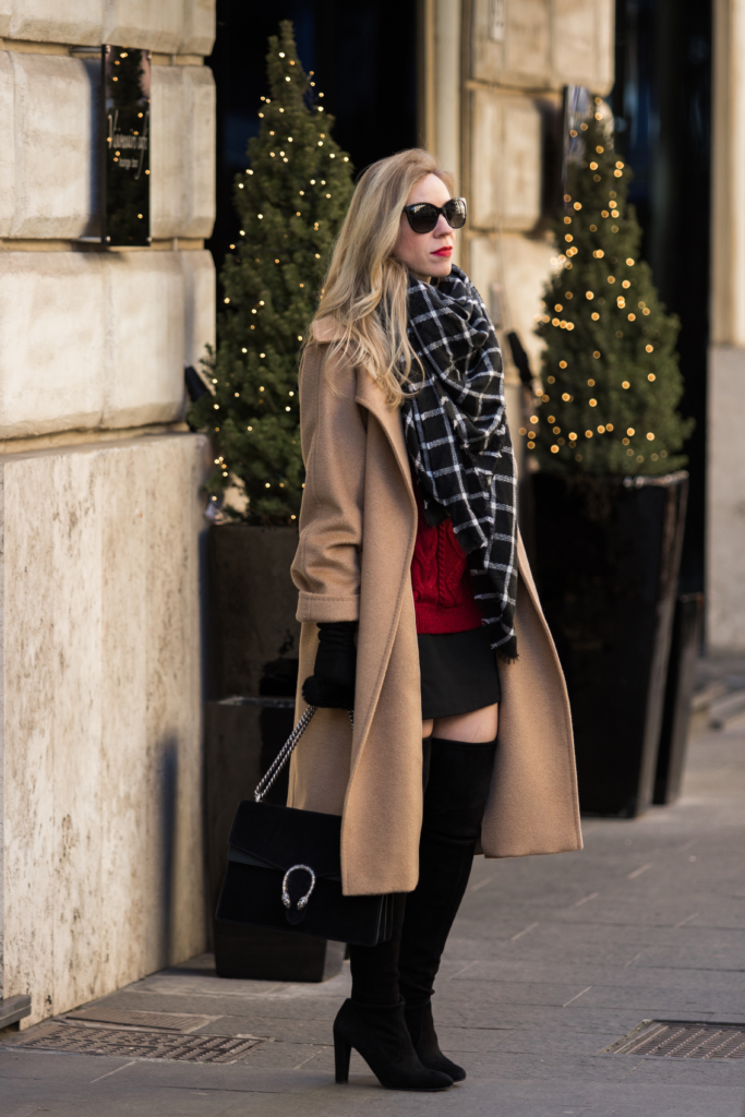 max-mara-camel-coat-with-mini-skirt-and-over-the-knee-boots-how-to-wear-a-camel-coat-holiday-outfit-with-camel-coat