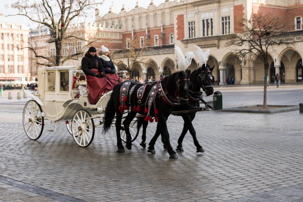 carriage-ride-krakow-poland-travel-blogger-poland-what-to-do-at-christmas-in-krakow-poland