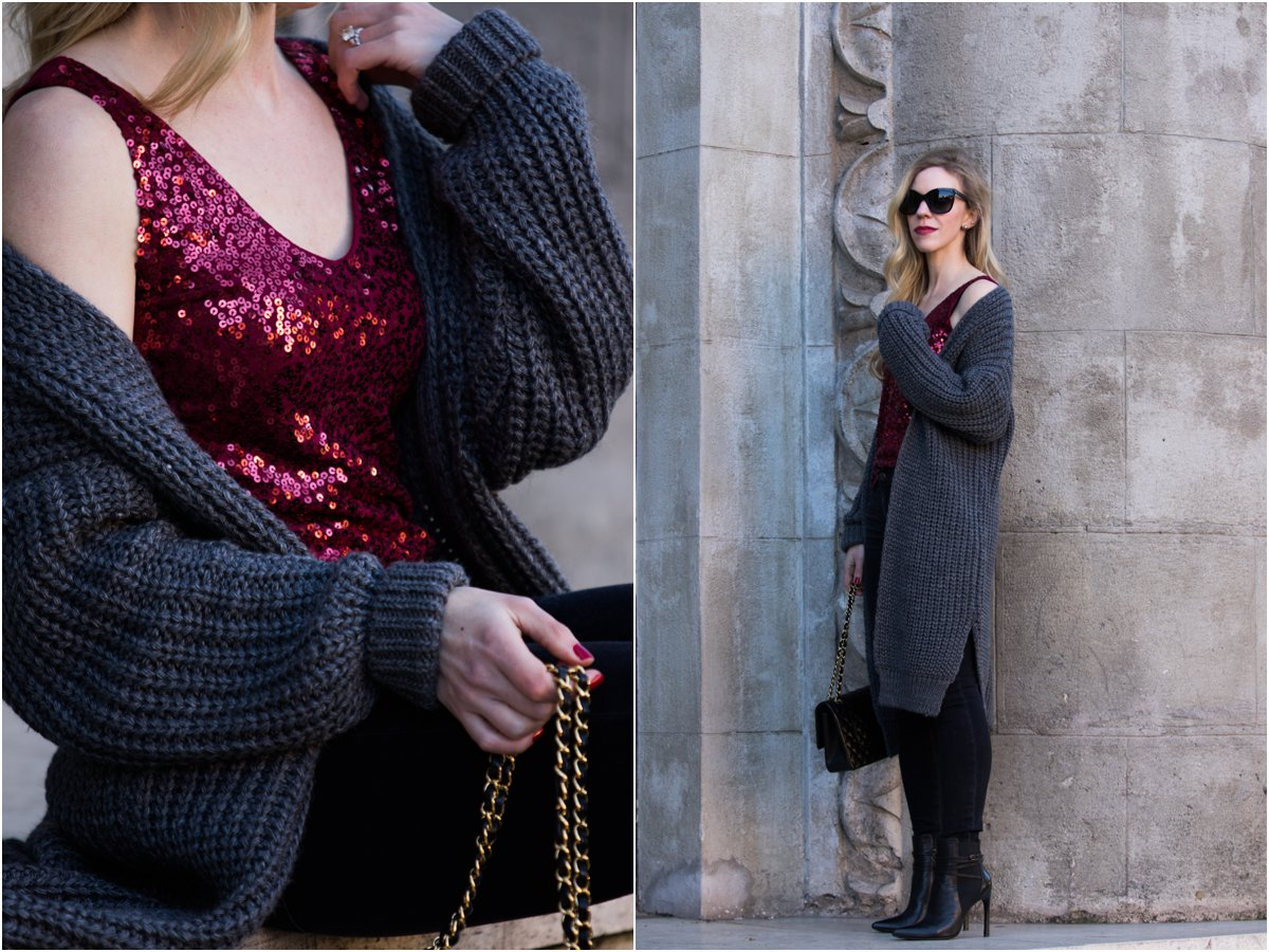 fashion-blogger-meagans-moda-wearing-long-cardigan-with-sequin-top-and-chanel-bag-new-years-eve-cozy-chic-look