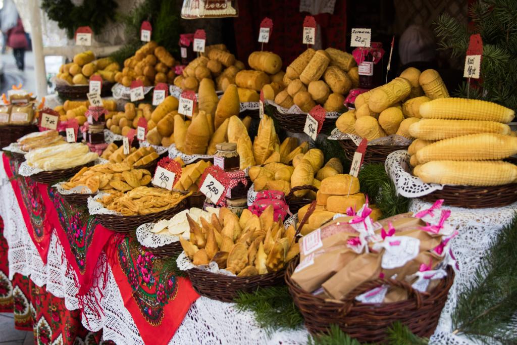 mountain-cheese-polish-food-christmas-market-krakow-poland