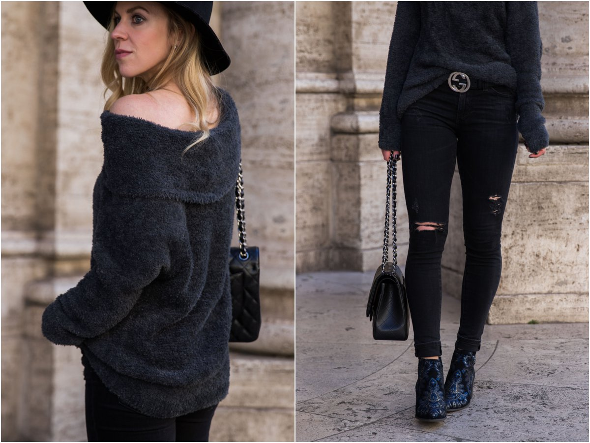 express-faux-fur-off-the-shoulder-top-with-gucci-belt-and-black-distressed-jeans-embroidered-brocade-boots
