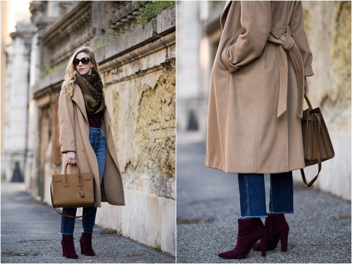 meagans-moda-fashion-blogger-wearing-max-mara-camel-coat-louis-vuitton-brown-monogram-scarf-and-tan-suede-saint-laurent-sac-de-jour