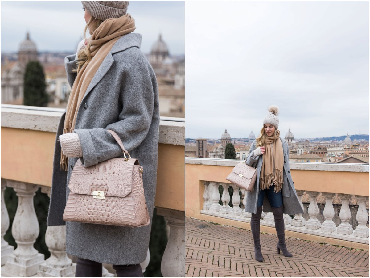 fashion-blogger-rome-italy-wearing-oversized-gray-coat-camel-scarf-and-pink-handbag-how-to-wear-neutrals-for-winter