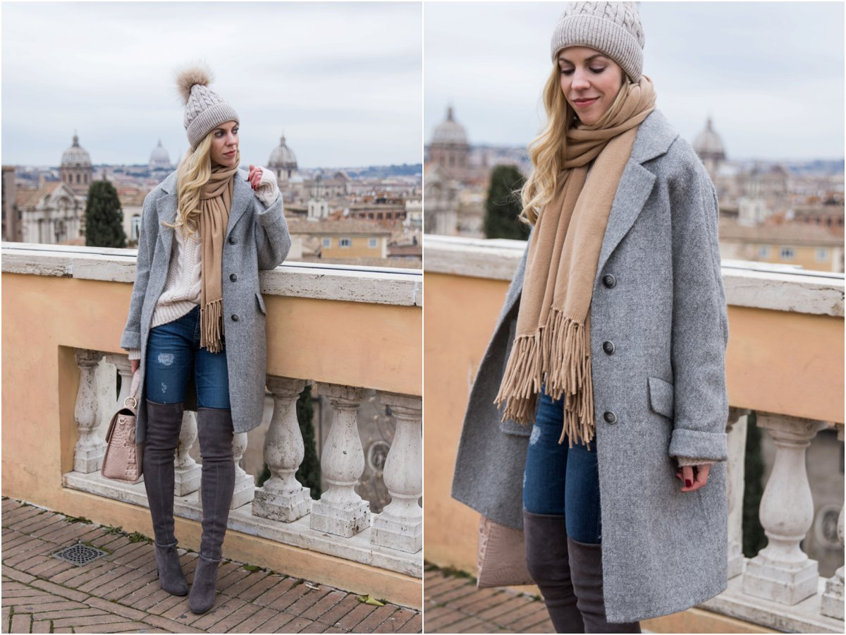 what-to-wear-with-an-oversized-gray-coat-gray-coat-with-camel-scarf-and-beige-sweater-outfit
