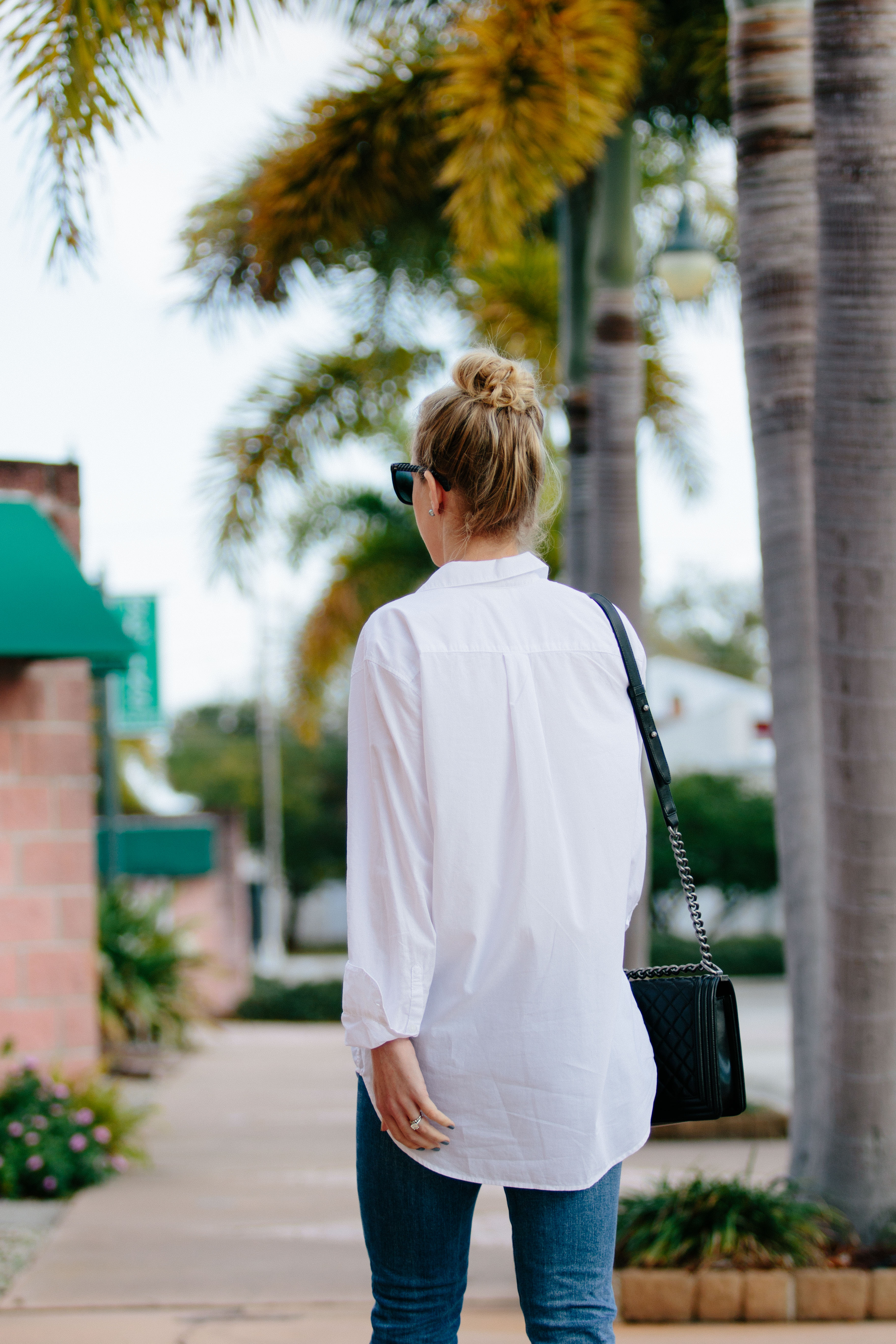 85e5bb62f36 H M oversized white button down shirt