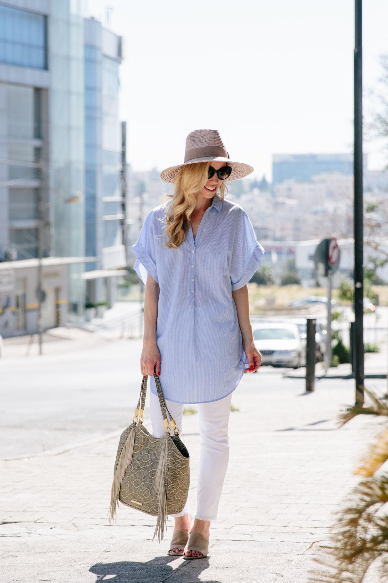 Striped Tunic Amp White Jeans Meagan S Moda