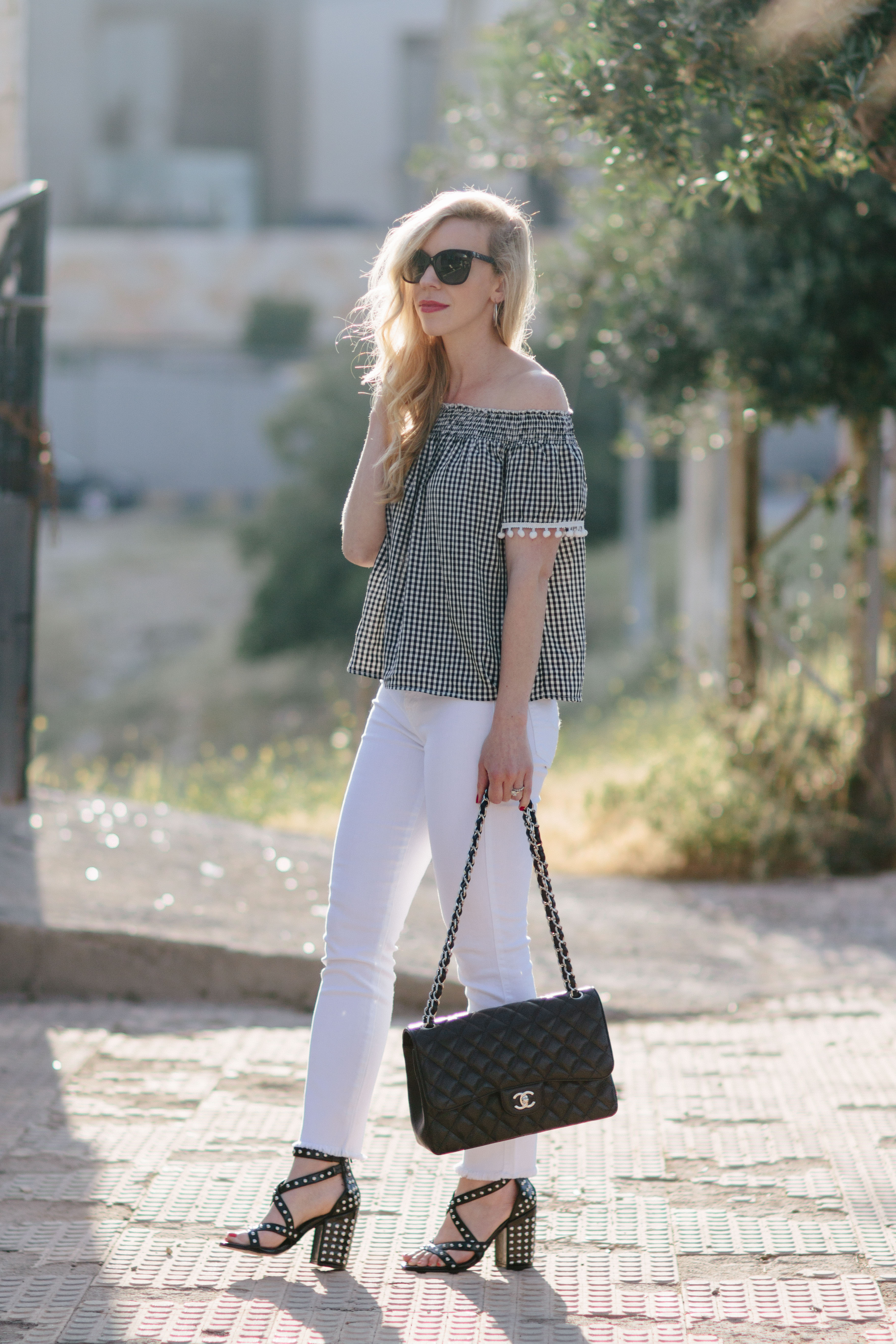 fbeaa22b646 Black & White Gingham Top Under $50 - Meagan's Moda