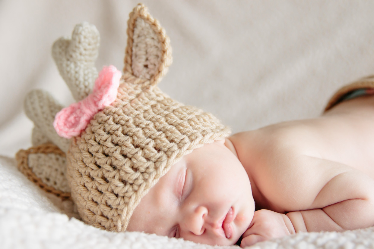 ca5595129 newborn baby girl photo shoot idea with Etsy crochet deer outfit ...