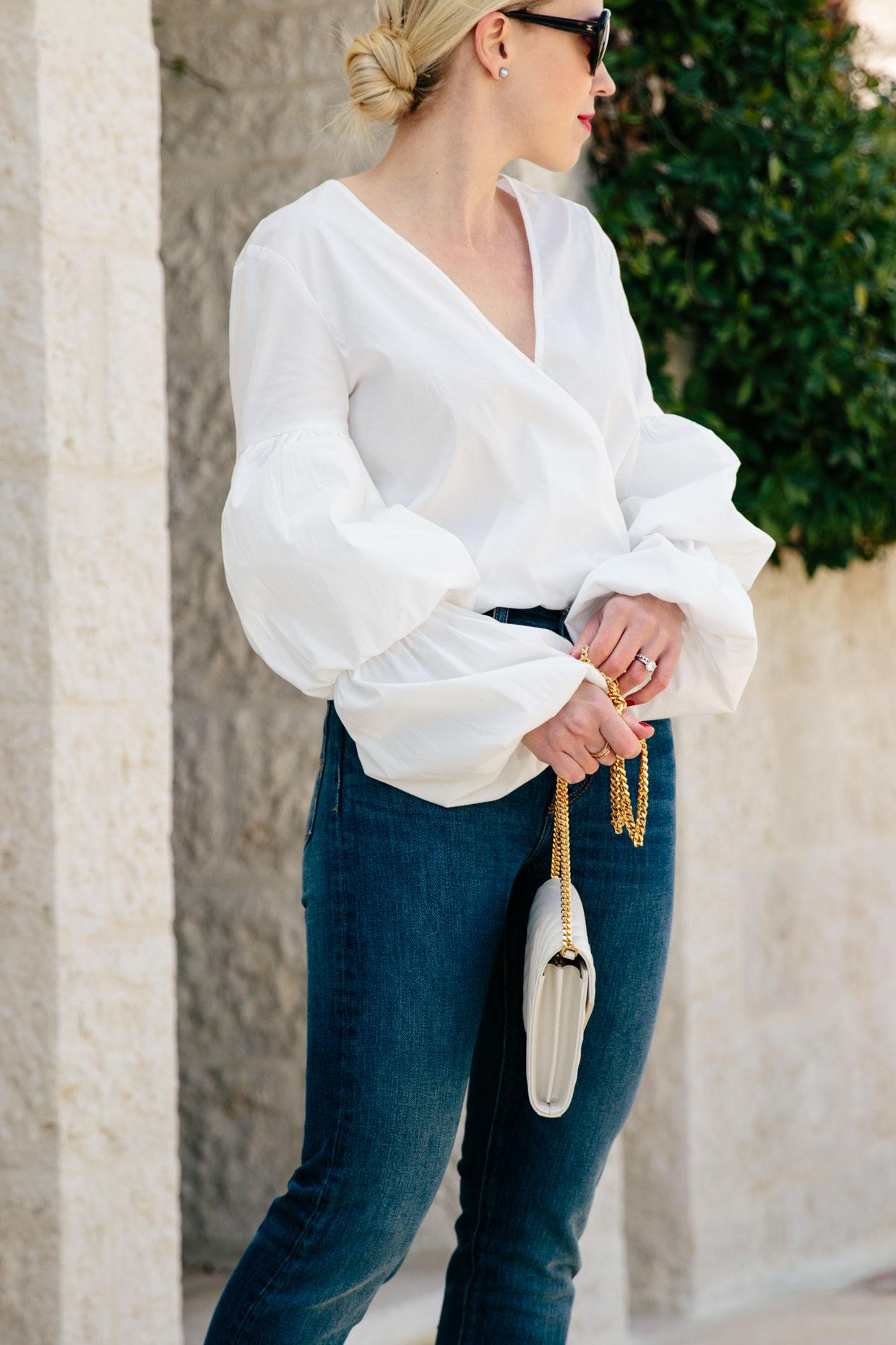 White Bodysuit Blouse