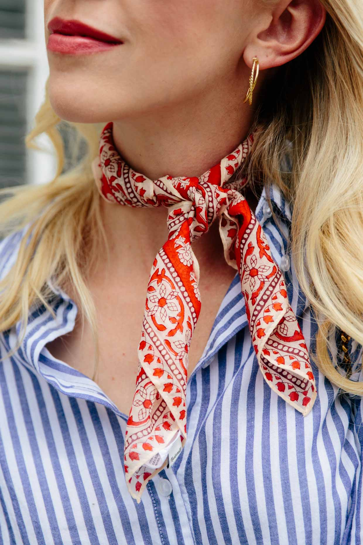 Image result for bandana scarf red