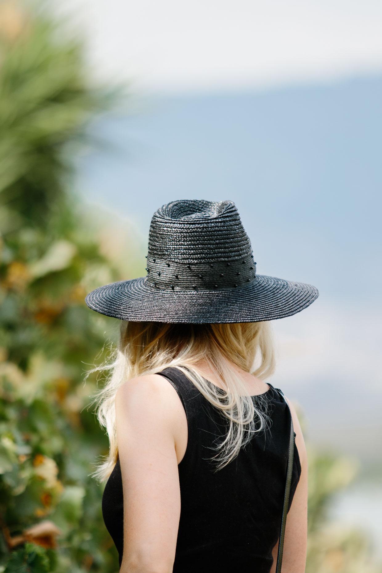 ff3e7f230 Brixton Macy black straw fedora hat outfit - Meagan's Moda