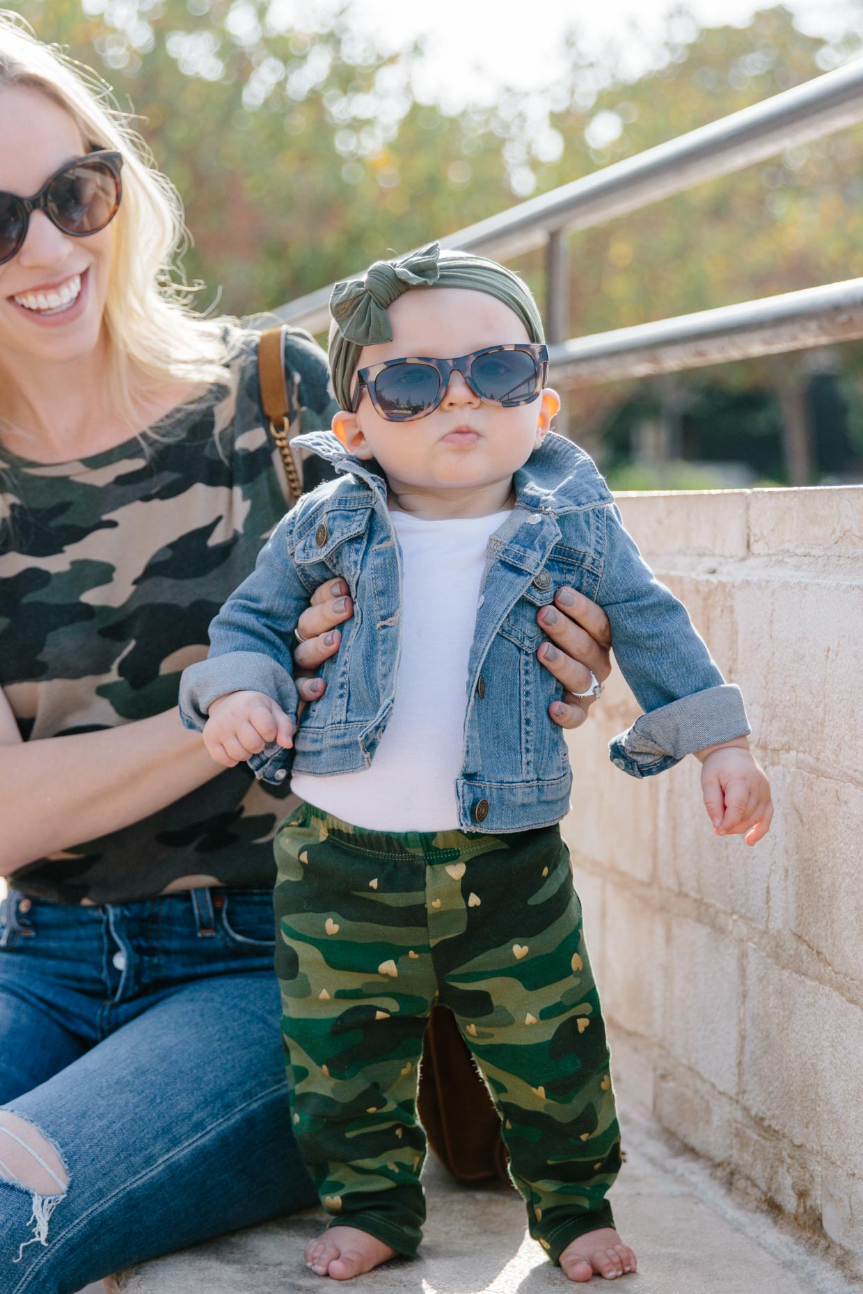 4190007778f9c Let's be honest: anything you dress a baby in is automatically going to be  adorable thanks to the mini size, but this denim jacket has to be the  cutest ...